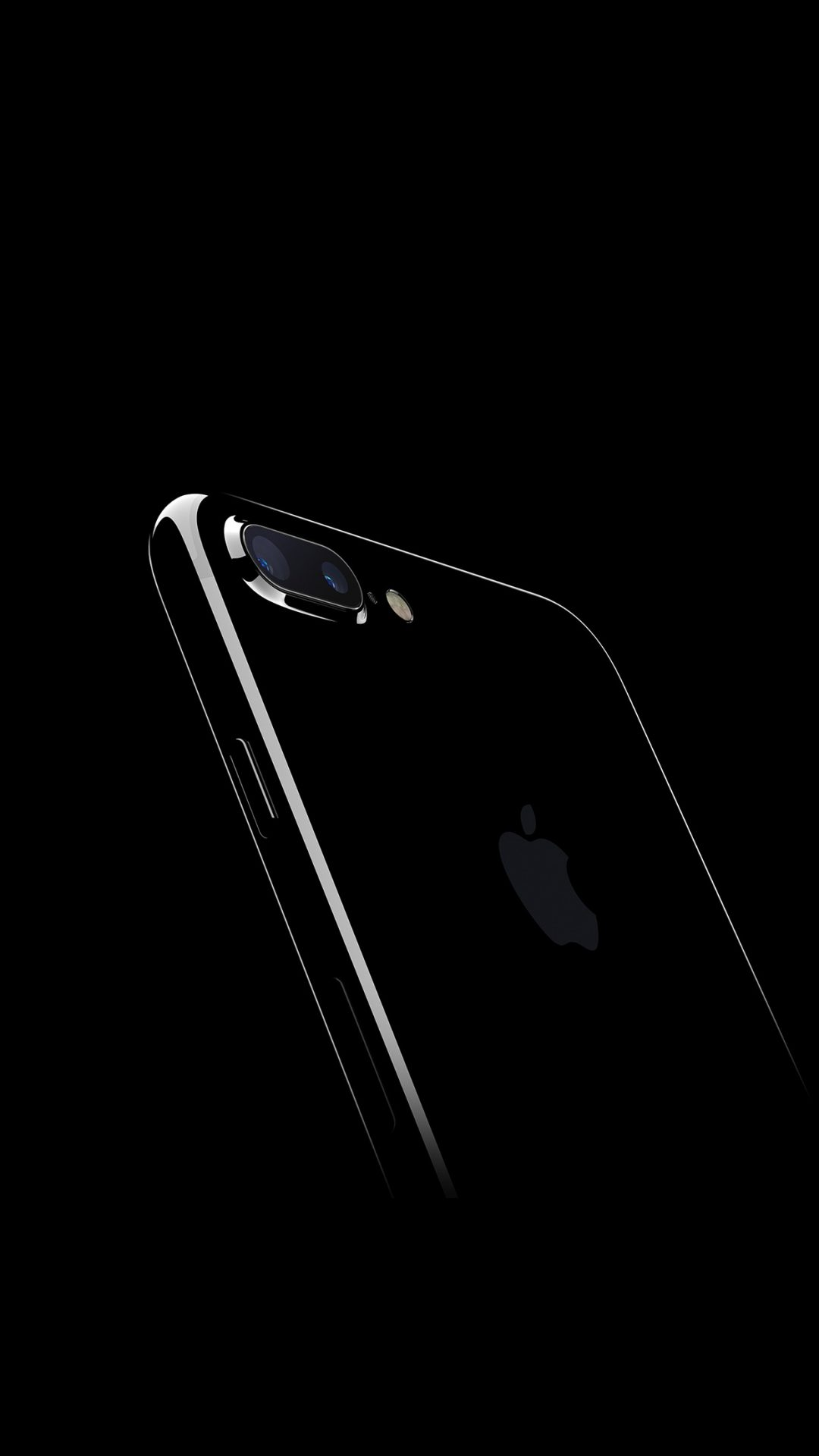 Iphone7 Jetblack Dark Apple Ios10 Art Illustration
