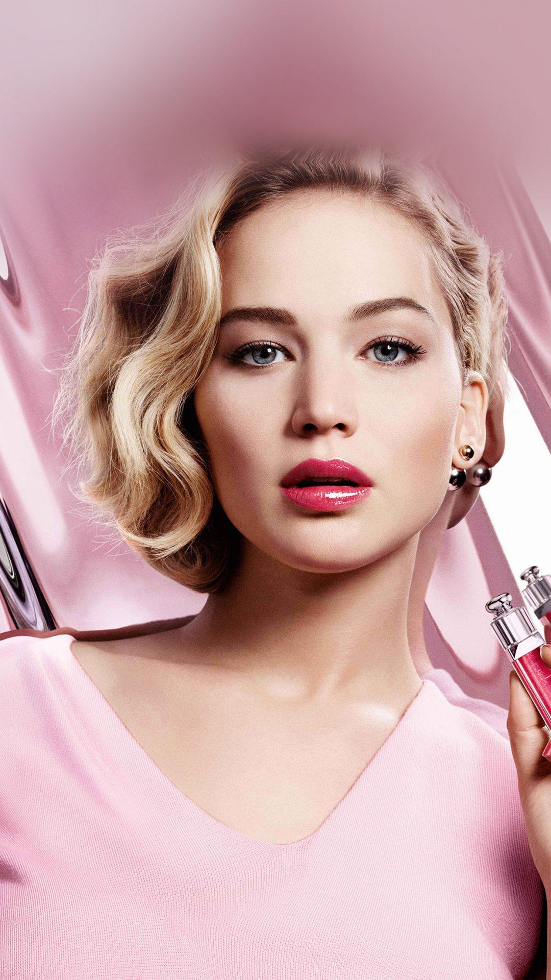 Jennifer Lawrence Pink Model Celebrity Lips