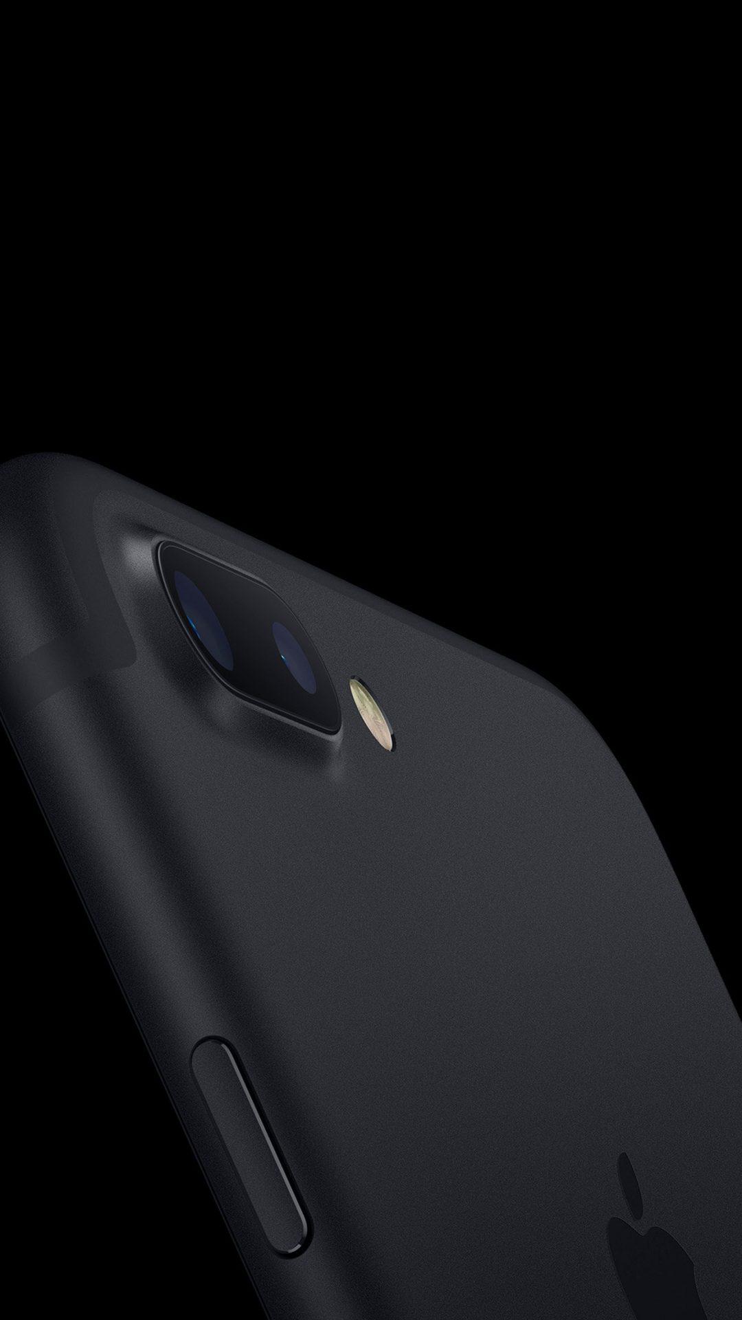 Jet Black Iphone7 Dark Minimal Apple Art Illustration