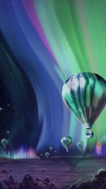 Jupiter Aurora Space Sky Art Illustration Blue