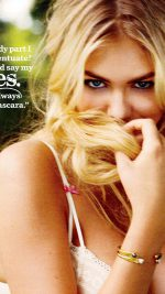 Kate Upton Magazine Shy Face Girl Art