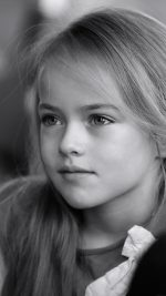 Kristina Pimenova Cute Girl Model Bw Dark
