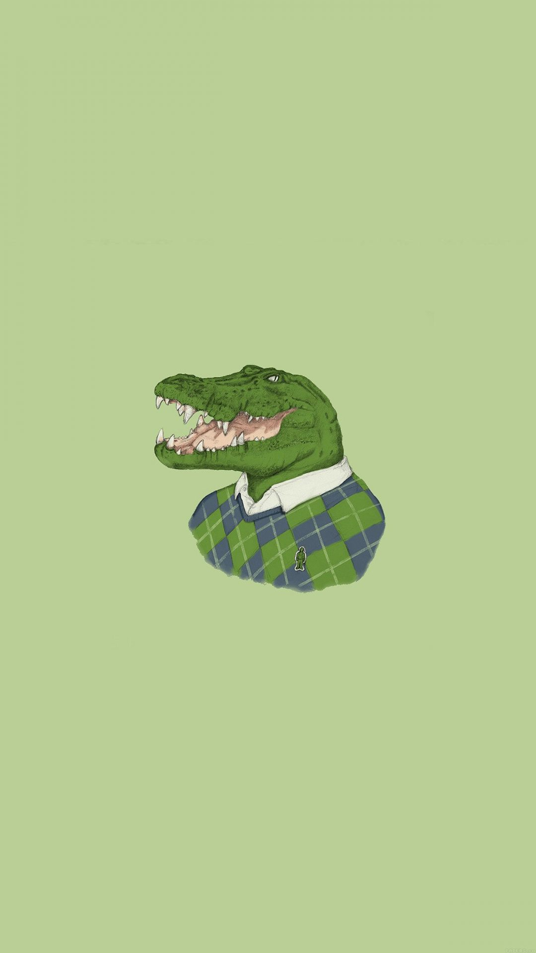 Lacoste Human Animal Minimal Art Illust Green