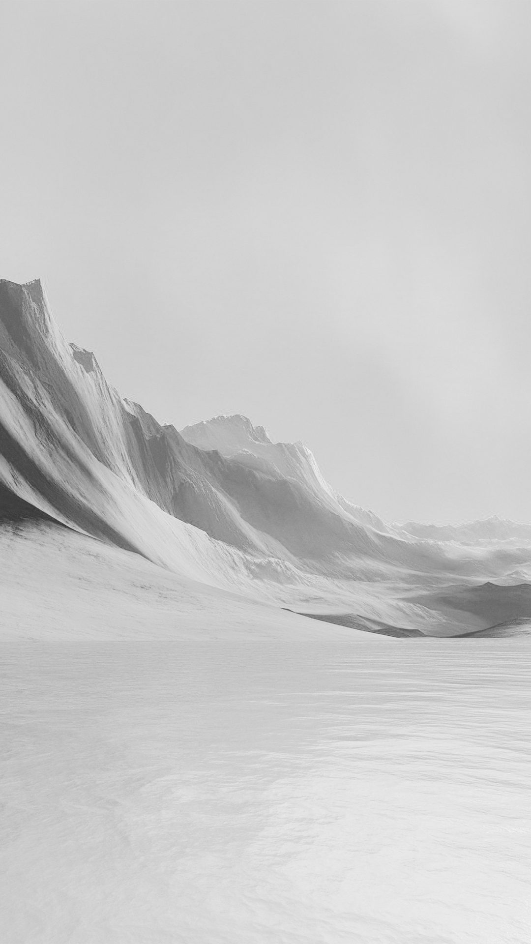Lg G Flex Art Mountain Digital Bw Dark Abstract