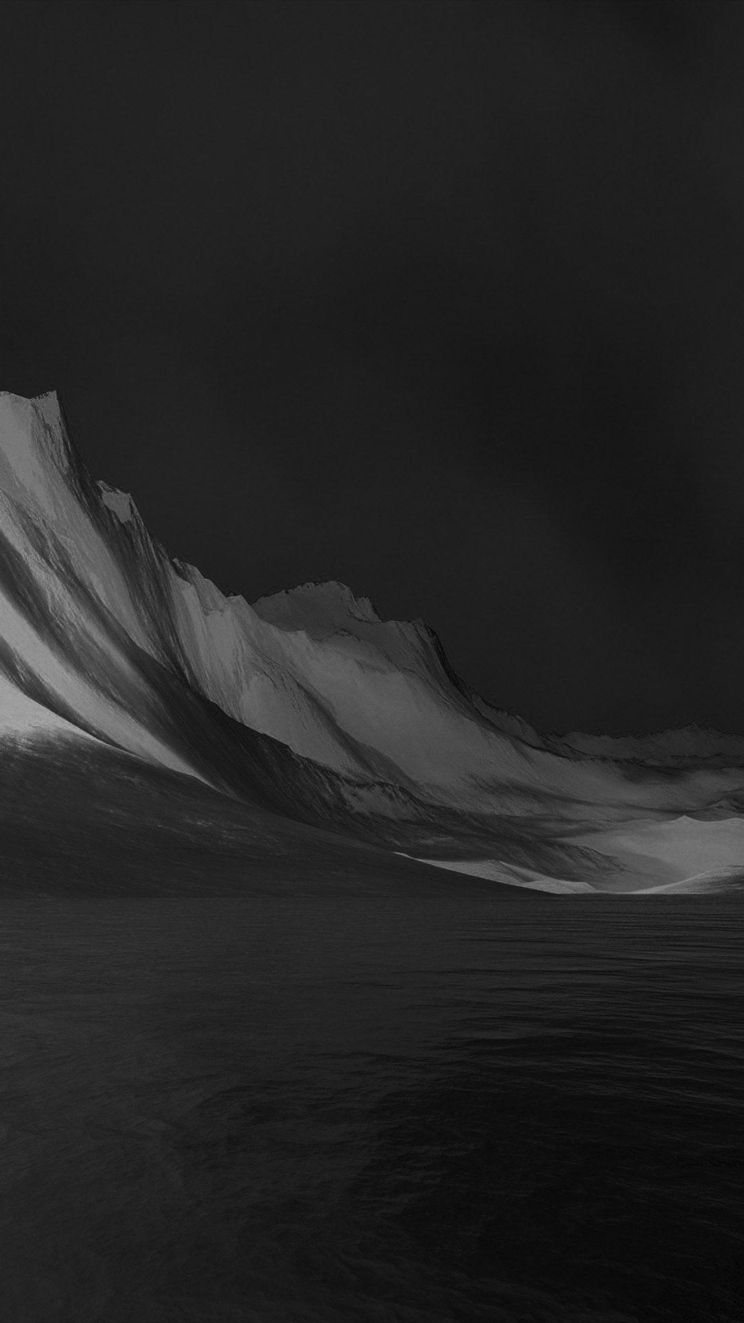 Lg G Flex Art Mountain Digital Bw Dark Black Abstract
