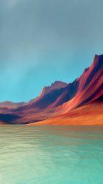 Lg G Flex Art Mountain Digital Red Abstract