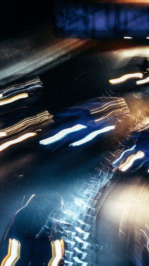 Light Car Dark Abstract Pattern
