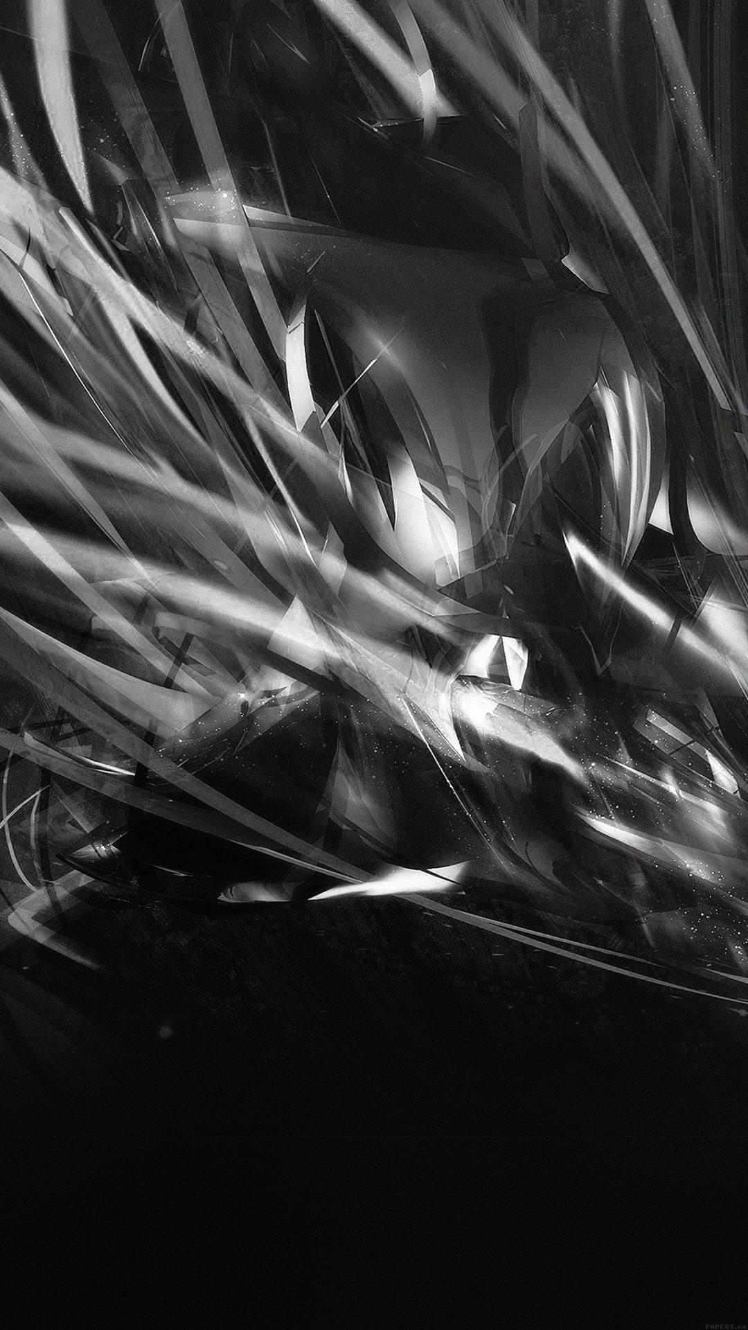 Line Abstract Art Dark Black Pattern