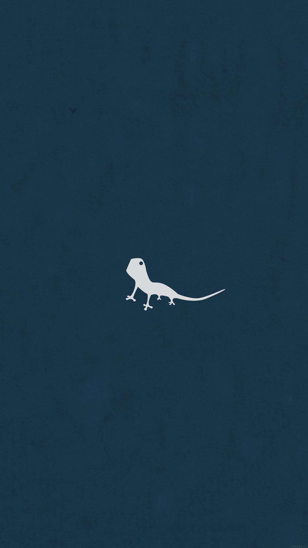 Lizard Blue Animal Minimal Simple Art