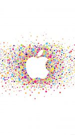 Logo Art Apple Rainbow Minimal