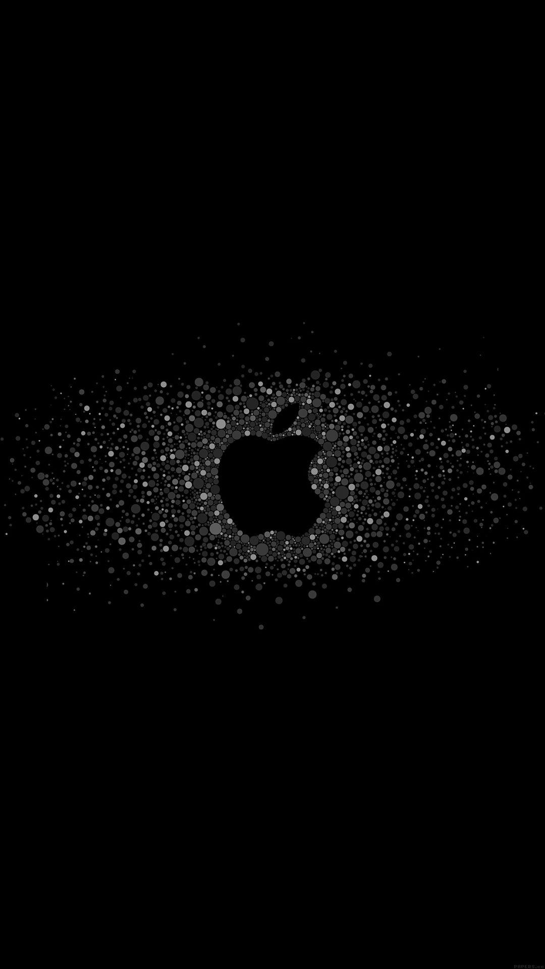 Logo Art Apple Rainbow Minimal Dark