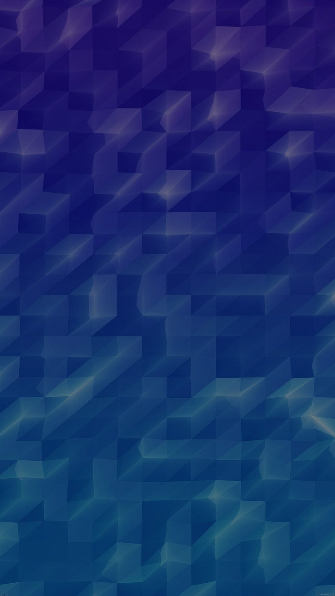 Low Poly Sea Blue Abstract Fun Pattern