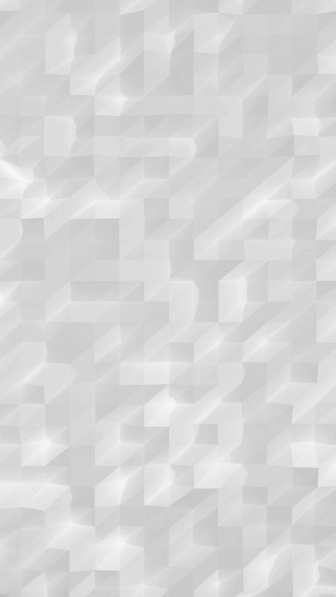 Low Poly White Night Abstract Fun Pattern