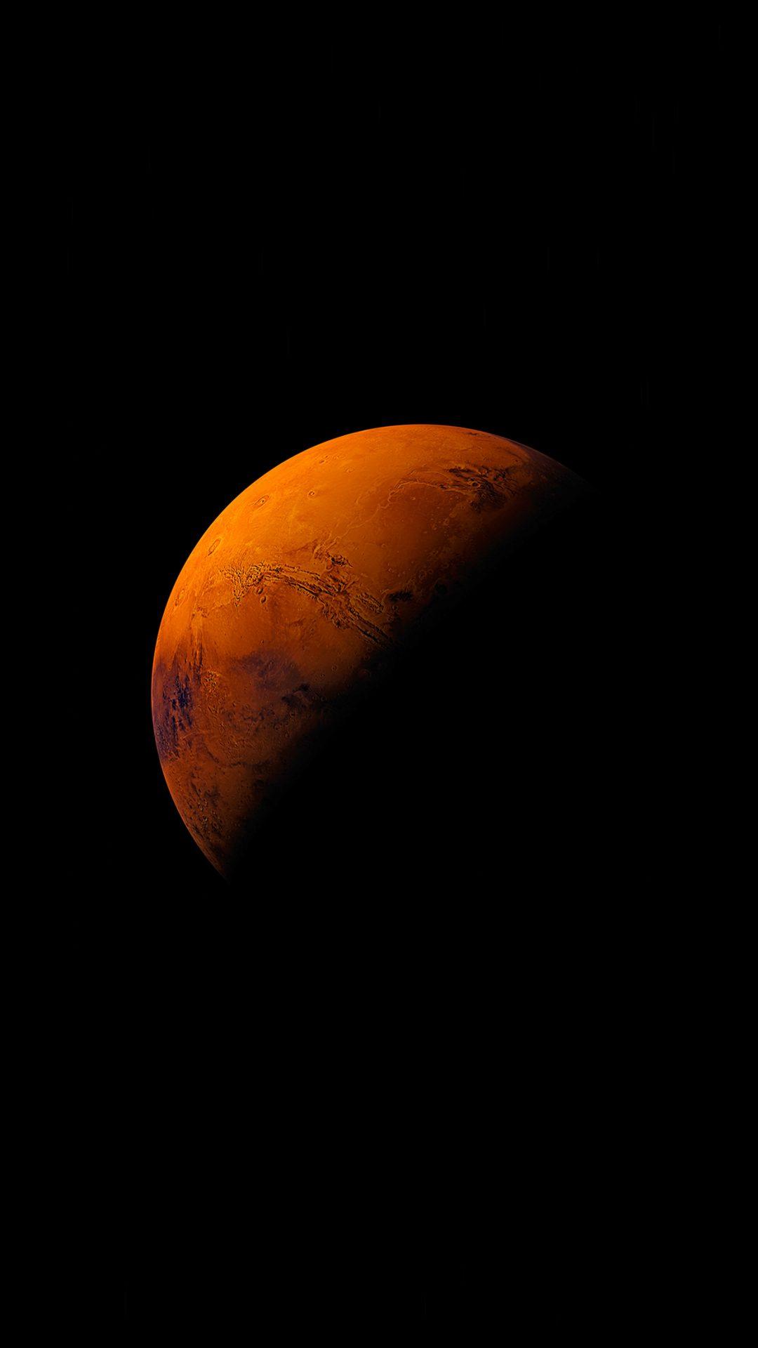 Mars Planet Apple Dark Space Orange