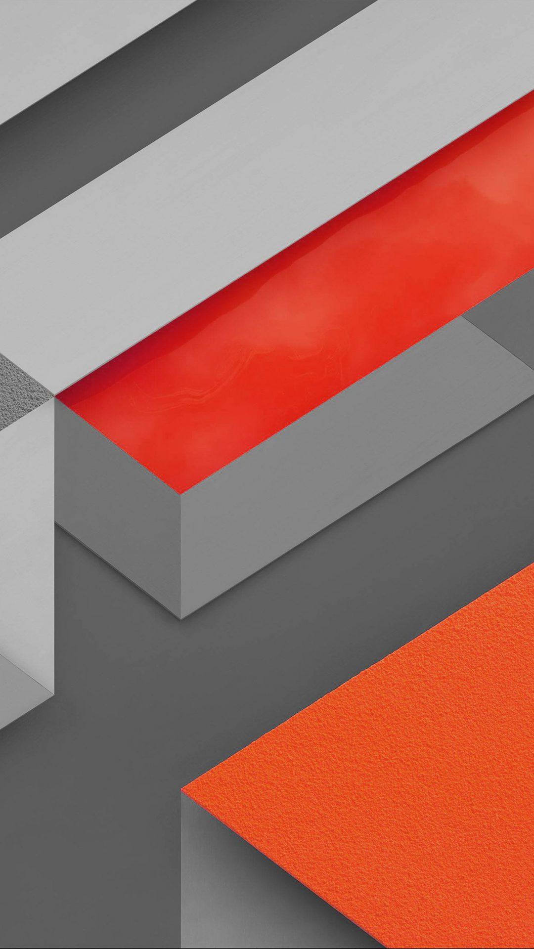 Marshmallow Android Orange Triangle Pattern