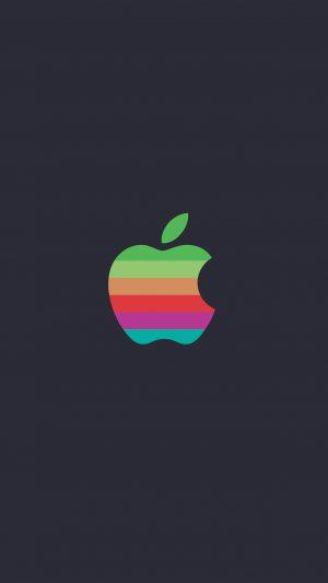 Minimal Logo Apple Color Dark Illustration Art