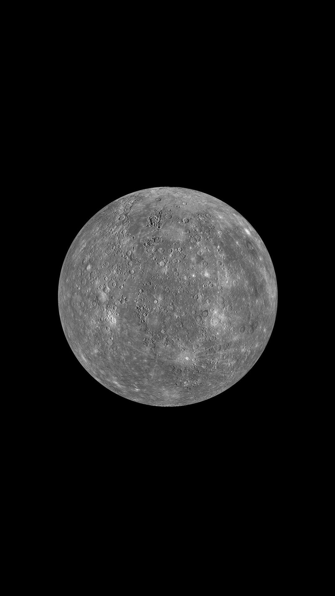 Moon Red Dark Minimal Art Space Planet