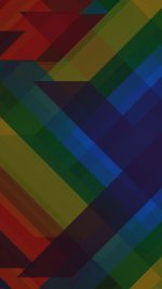 Multicolored Polygons Dark Pattern Art Abstract