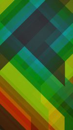 Multicolored Polygons Green Pattern Art Abstract