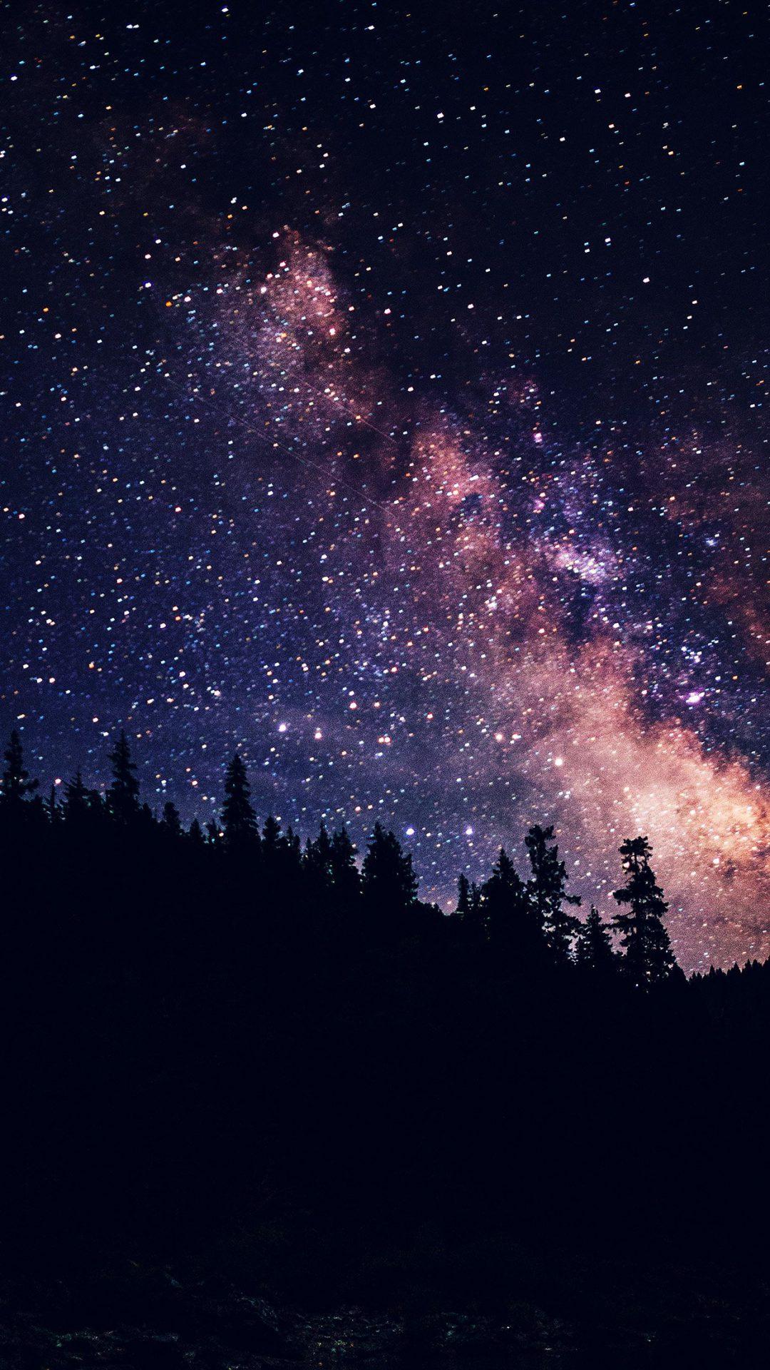 Night Sky Dark Space Milkyway Star Nature