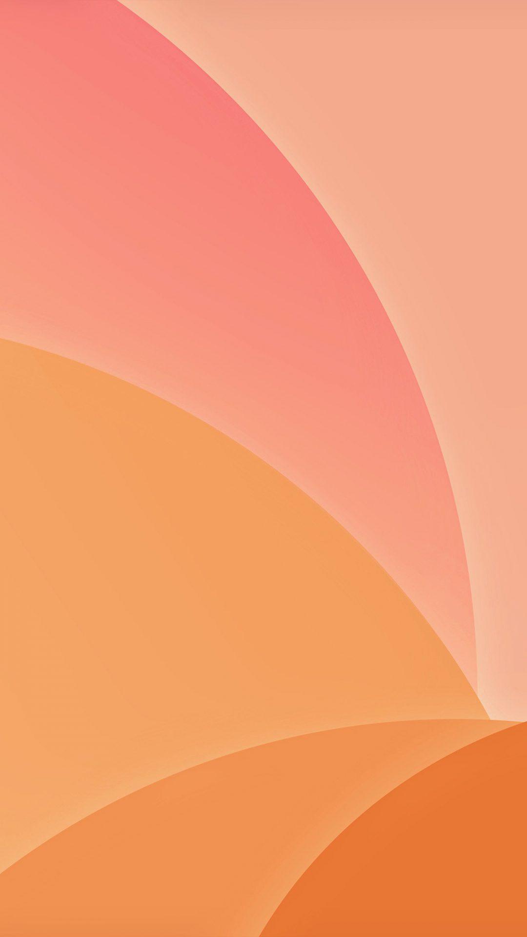 Orange Yellow Circle Art Abstract Shadow Pattern