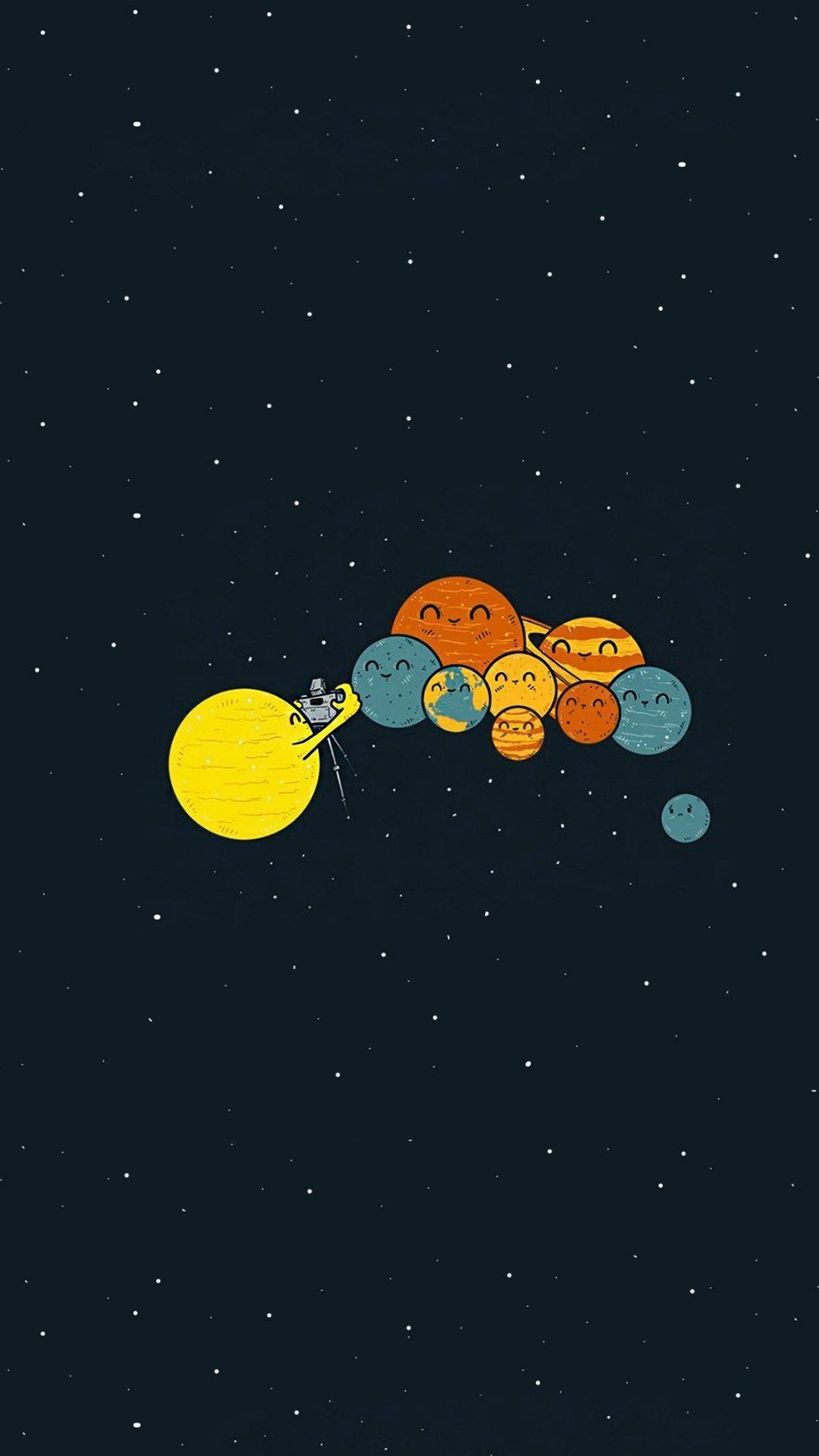 Planets Cute Illustration Space Art