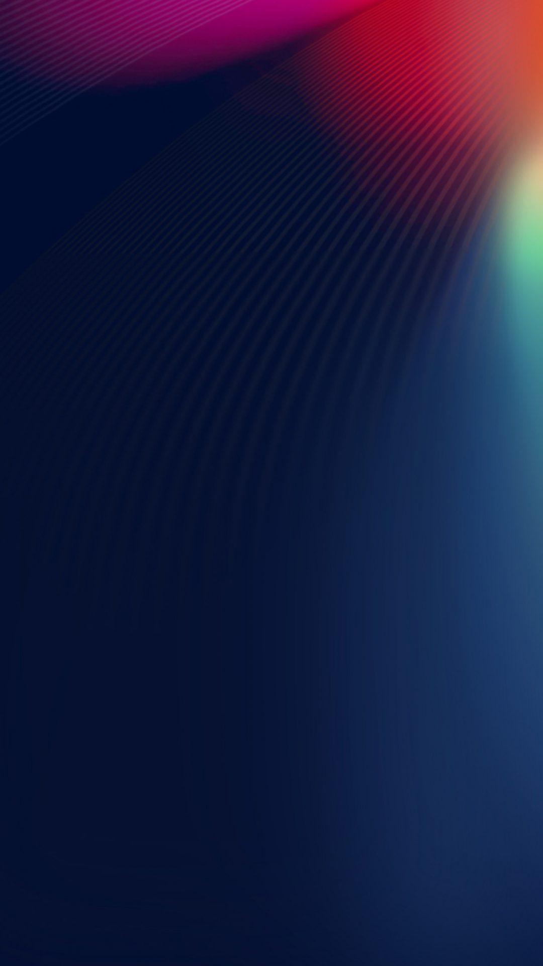 Rainbow Abstract Ligh Blue Pattern