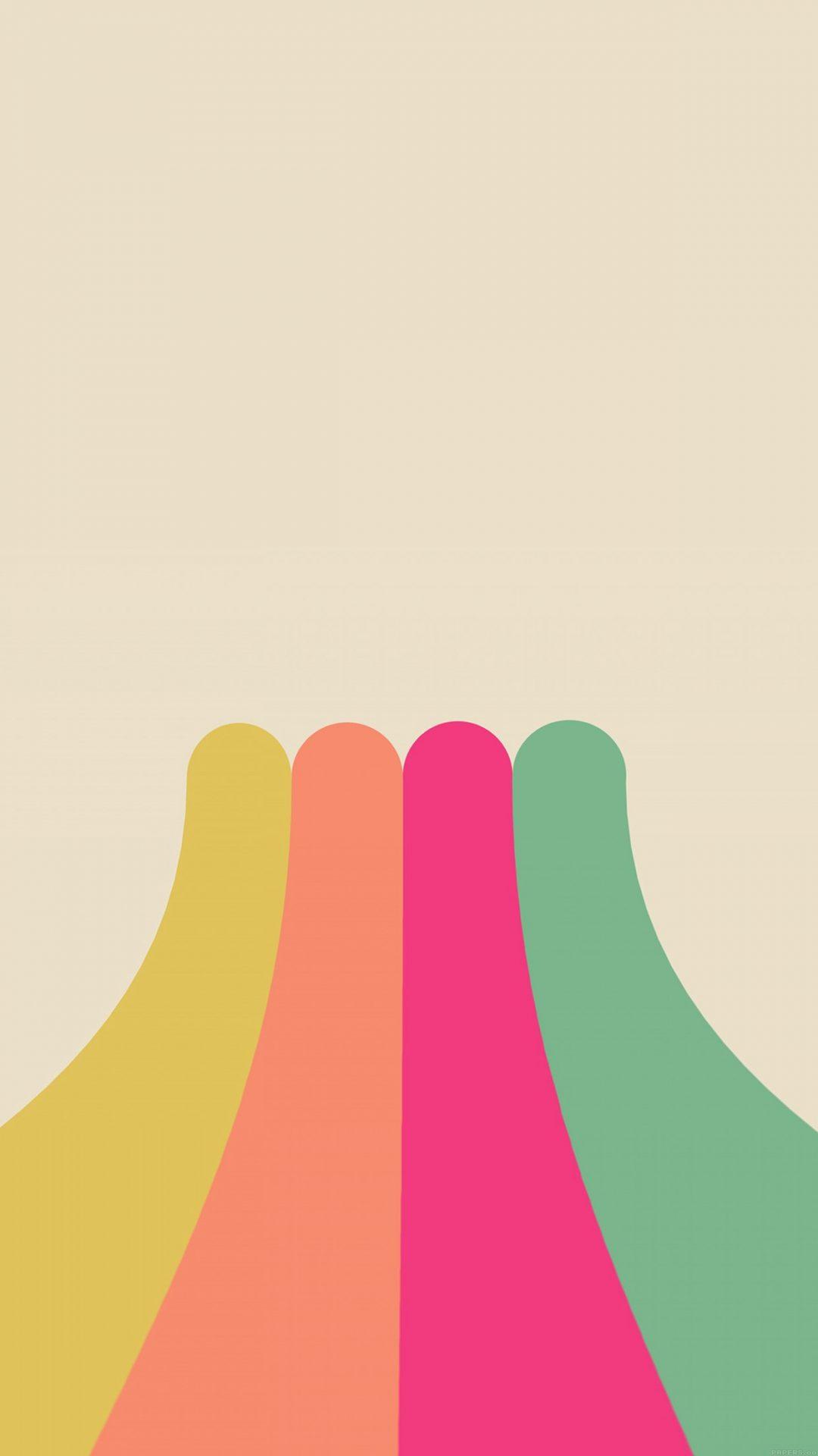 Rainbow Simple Minimal Abstract Pattern