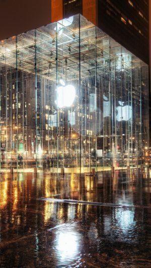 Raining Apple Store Newyork