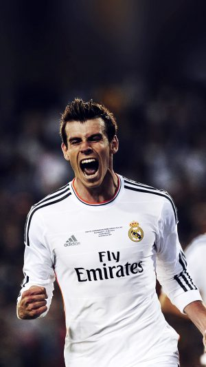 """Real Madrid's Welsh forward Gareth Bale after he scored celebrates after scoring during the Spanish Copa del Rey (King's Cup) final """"Clasico"""" football match FC Barcelona vs Real Madrid CF at the Mestalla stadium in Valencia on April 16, 2014.   AFP PHOTO/ DANI POZODANI POZO/AFP/Getty Images ** OUTS - ELSENT, FPG - OUTS * NM, PH, VA if sourced by CT, LA or MoD **"""