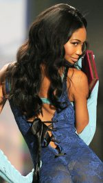 Victoria's Secret model Chanel Iman  during the 2009 Victoria's Secret Fashion Show at the Lexington Armory in New York November 19, 2009.  The show will be broadcast December 1, 2009  on CBS. AFP PHOTO / TIMOTHY A. CLARY (Photo credit should read TIMOTHY A. CLARY/AFP/Getty Images)
