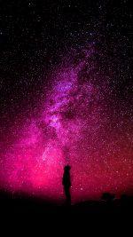 Sky Galaxy Milkyway Space Night Red