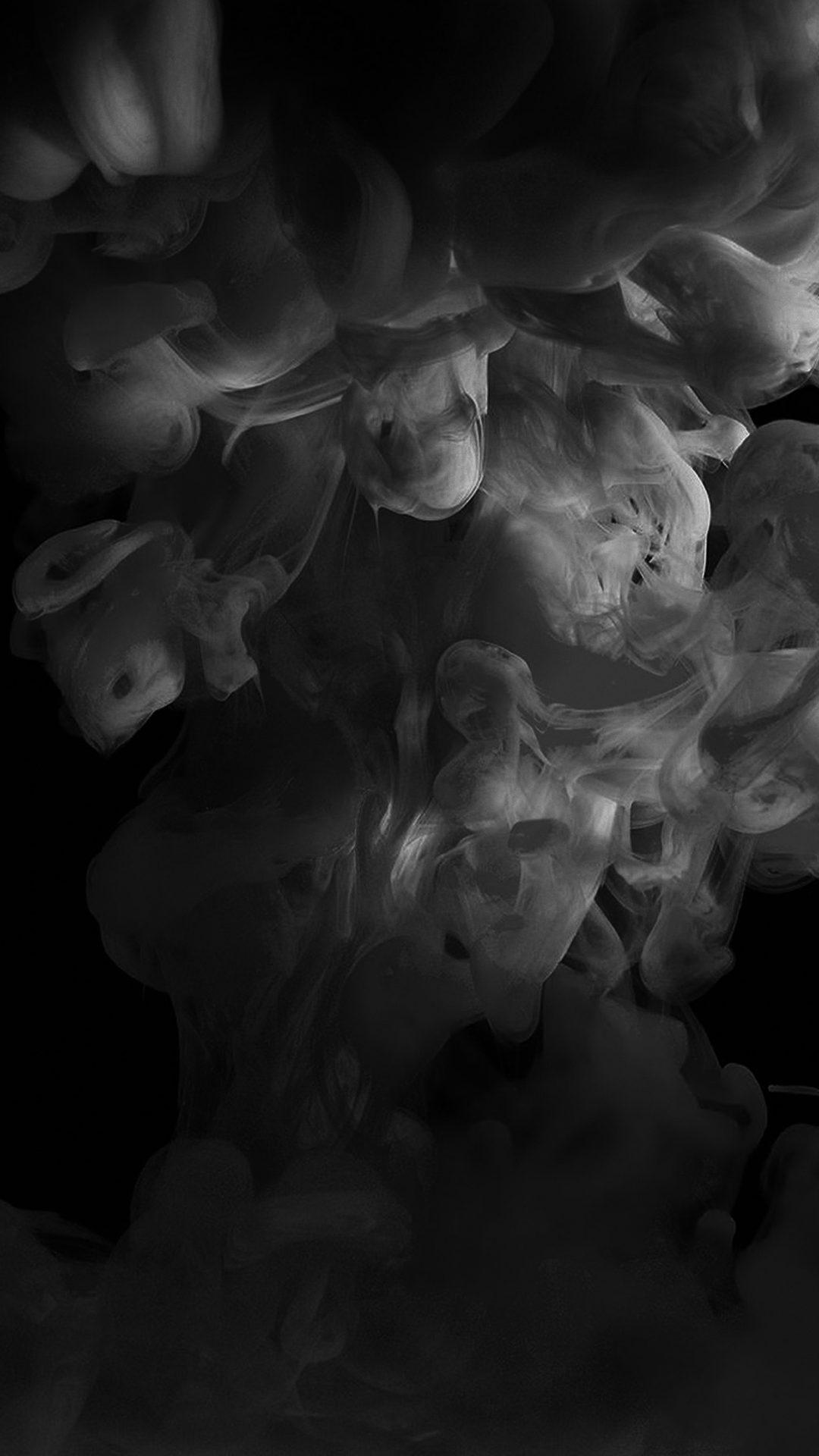 Smoke Dark Bw Abstract Fog Art Illust