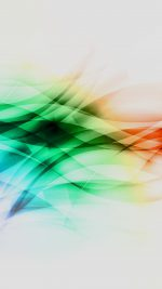 Smoke Rainbow Abstract Lines Pattern White