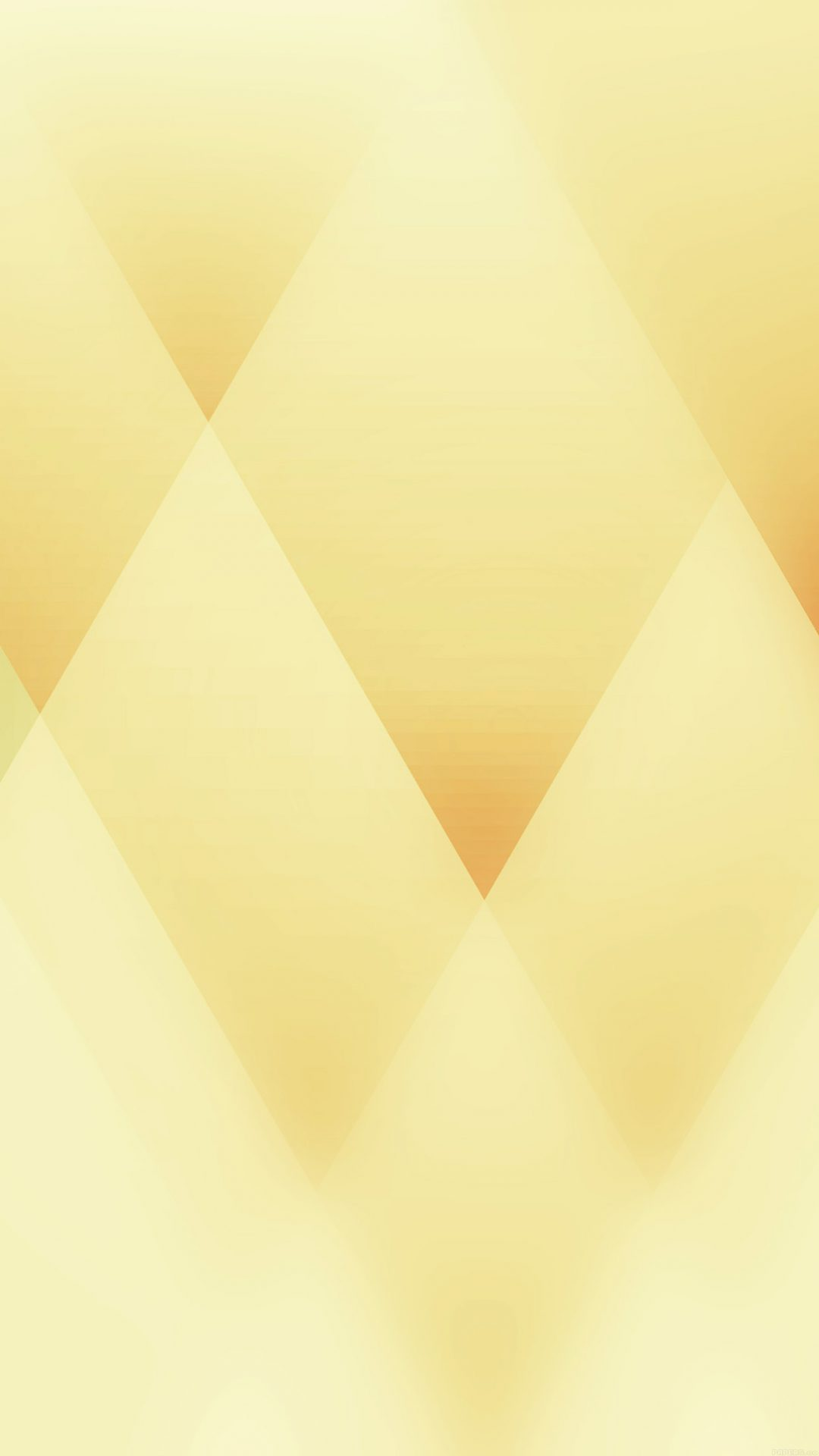 Soft Triangles Abstract Yellow Patterns
