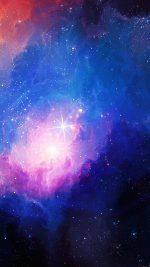 Space Aurora Art Star Illust Blue Rainbow