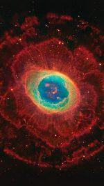 Space Aurora Nebula Star Red Dark