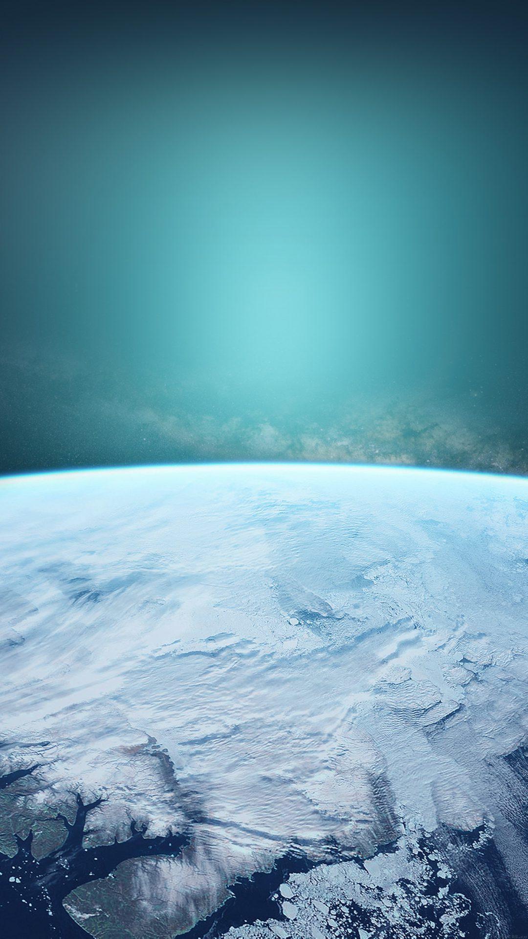 Space Blue Earch Winter Dark Art