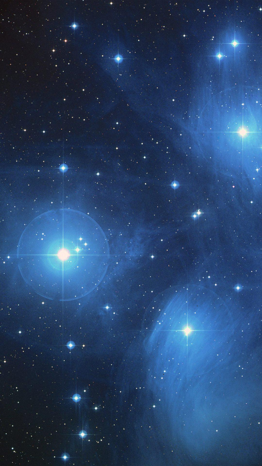 Space Dark Star Blue Pattern