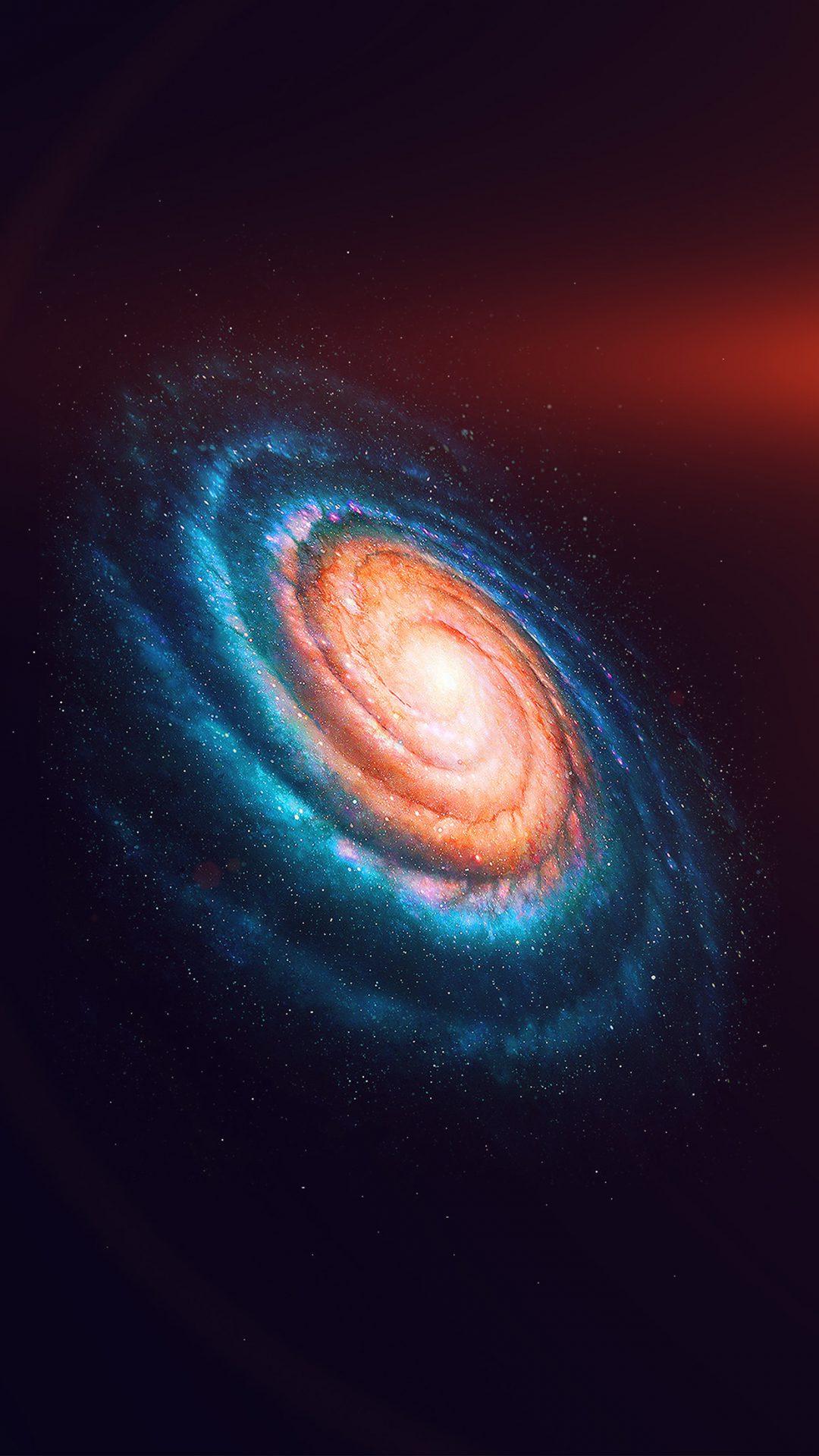 Space Galaxy Dark Rainbow Night Star Flare