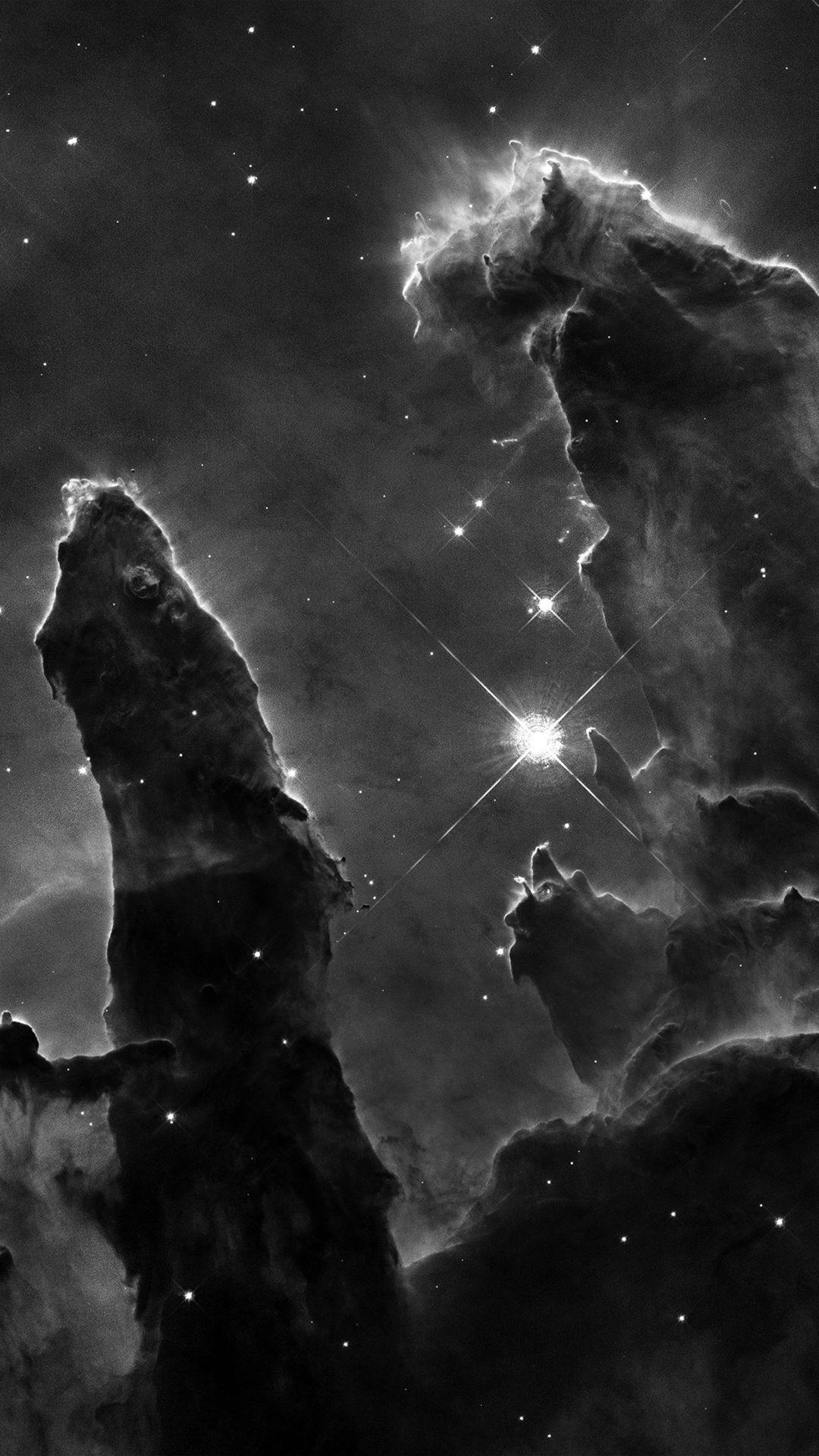 Space Galaxy Star Far Night Science Nature Bw Dark