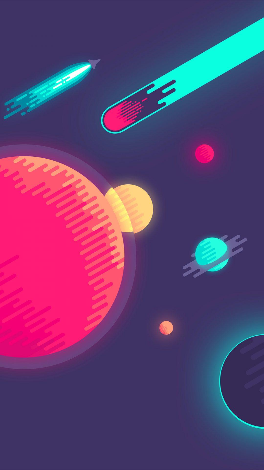 Space Minimal Art Illustration