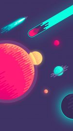 Space Minimal Art Illustration