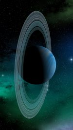Space Planet Saturn Blue Star Art Illustration