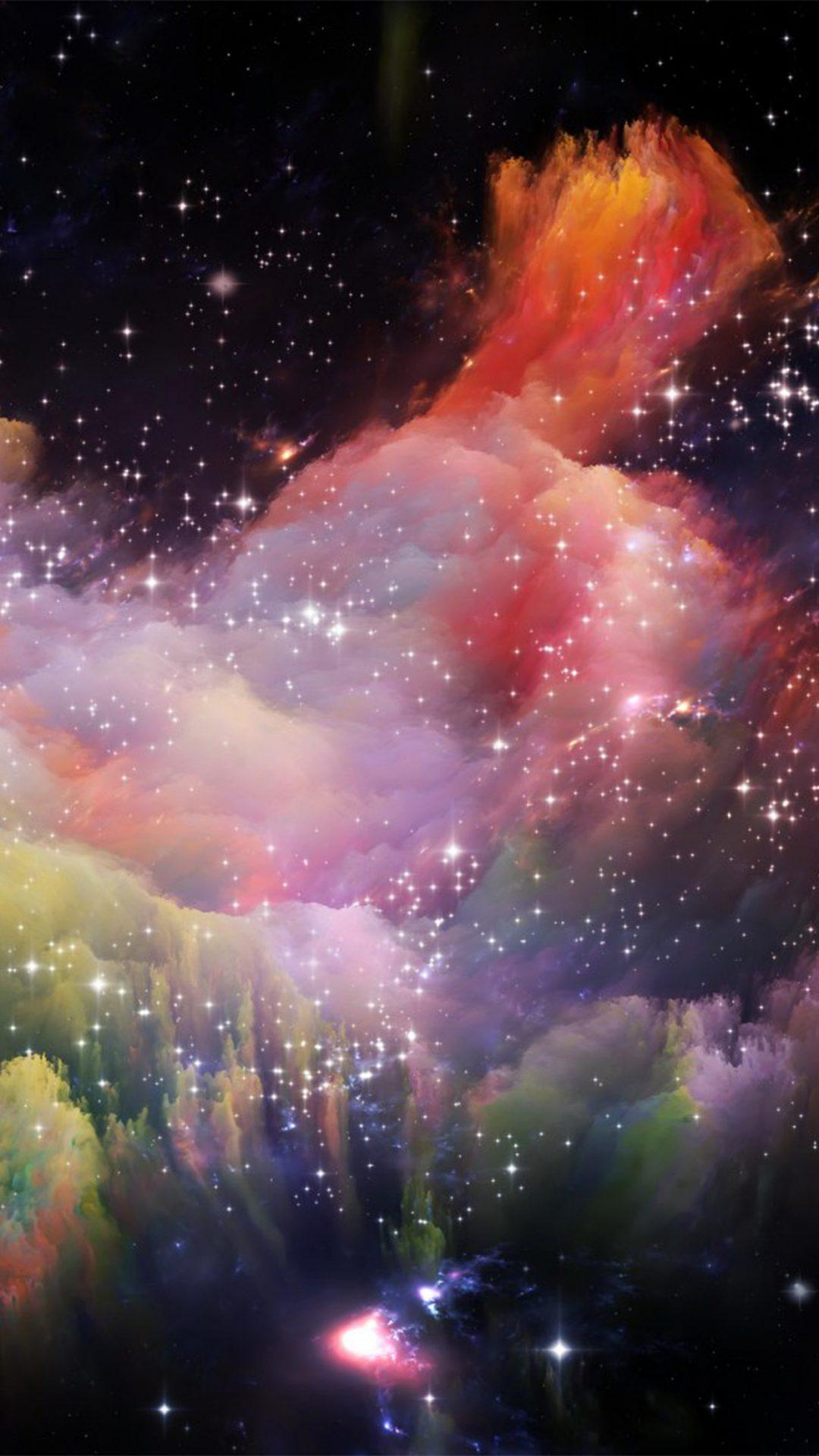 Space Rainbow Colorful Star Art Illustration