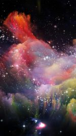 Space Rainbow Colorful Star Art Illustration Red