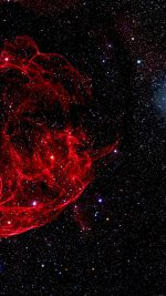 Space Red Bigbang Star Art Nature