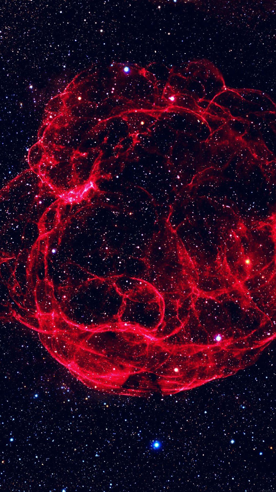 Space Red Blue Bigbang Star Art Nature