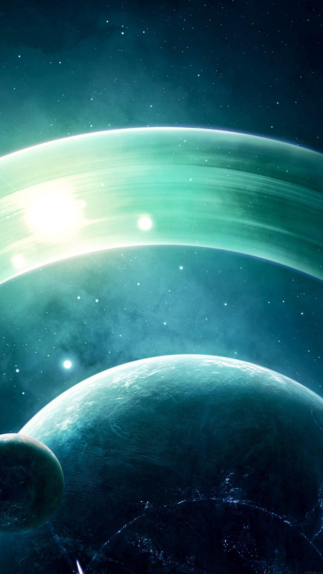 Space Saturn Dark Art Nature