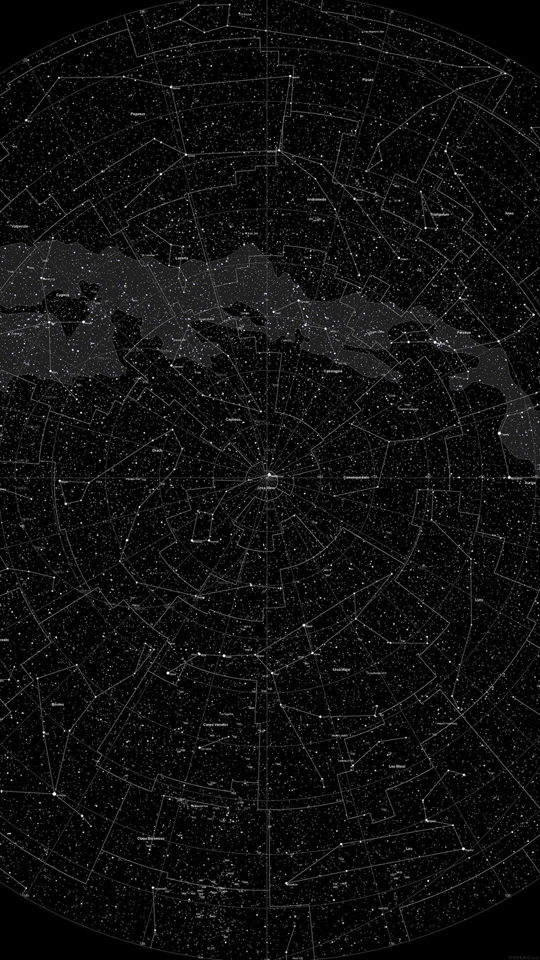 Space Star Map Pattern Dark